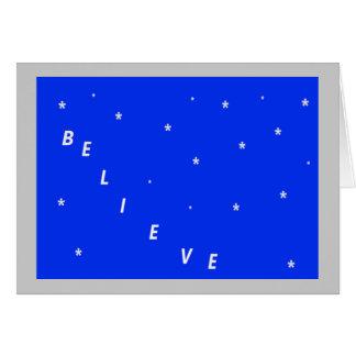 Believe Spiritual Christmas Card