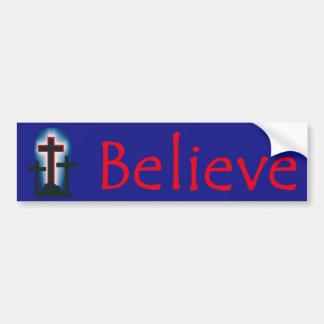 Believe Sticker Bumper Sticker