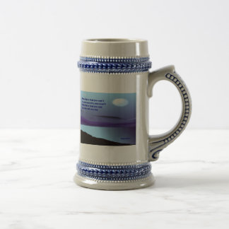 Believe that you can 18 oz beer stein