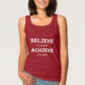Believe to achieve motivational text singlet