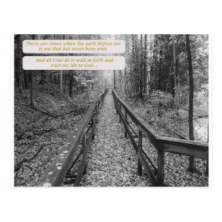 "Believe - ""Walk In Faith"" Postcard"