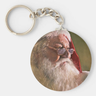 Believe, watercolor by Paul Jackson Basic Round Button Key Ring