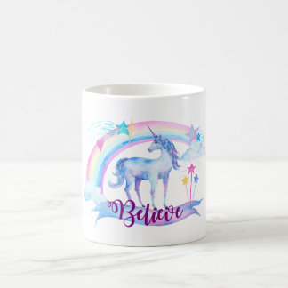 Believe / Watercolor Unicorn Teen Girl's Magic Cup