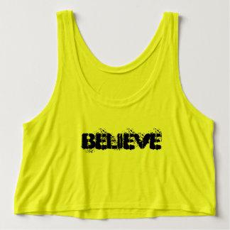 Believe women's crop neon tank top