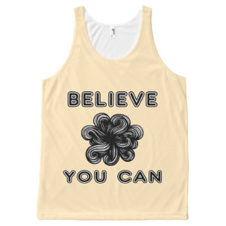 """Believe You Can"" 631 Art Unisex Tanktop All-Over Print Tank Top"