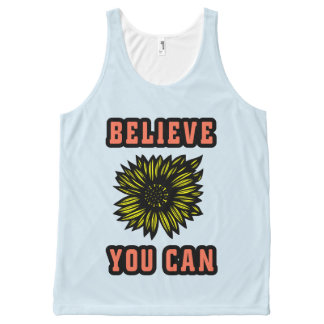 """Believe You Can"" Unisex Tanktop All-Over Print Tank Top"