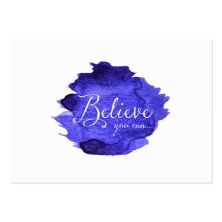 Believe You Can Watercolor Inspirational Quote Pack Of Chubby Business Cards