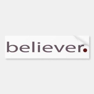 believer bumper sticker
