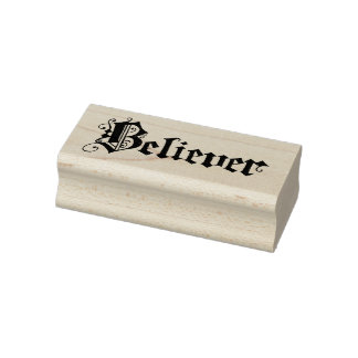 """""""Believer on a Cloud"""" Calligraphy on Rubber Stamp"""