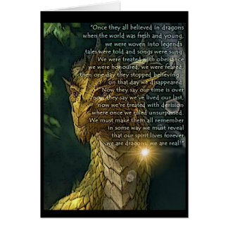 Believing in Dragons Greeting Card