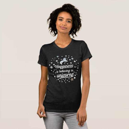 BELIEVING IN UNICORNS BLACK T-Shirt