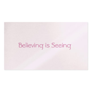 Believing is Seeing Love Notes Business Cards