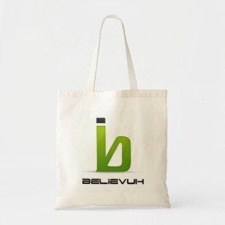 Believuh Small White Tote Bag