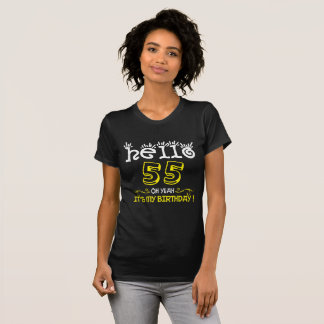 Belinto-Hello 55th Birthday T-Shirt
