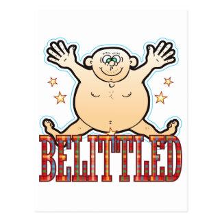 Belittled Fat Man Postcard