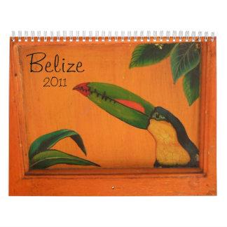 Belize 2011 wall calendars