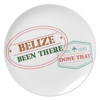 Belize Been There Done That Plate