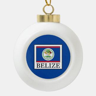 Belize Ceramic Ball Christmas Ornament