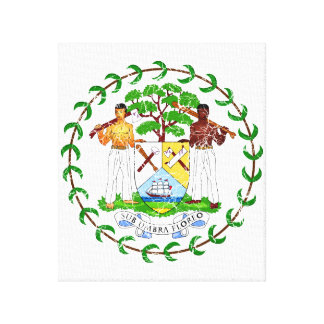 Belize Coat Of Arms Gallery Wrapped Canvas