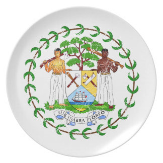 Belize Coat Of Arms Party Plates