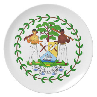 Belize Coat Of Arms Plate