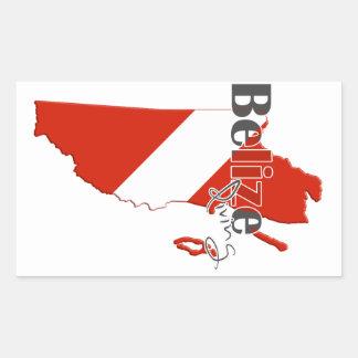 Belize Diving Rectangular Sticker