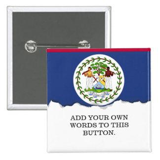 Belize Flag 15 Cm Square Badge