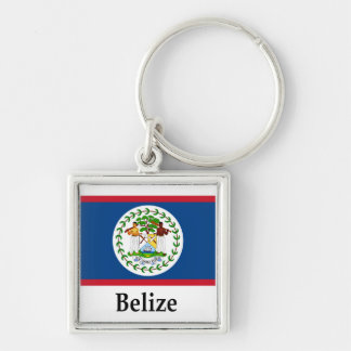 Belize Flag And Name Key Ring