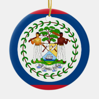 Belize Flag Ceramic Ornament
