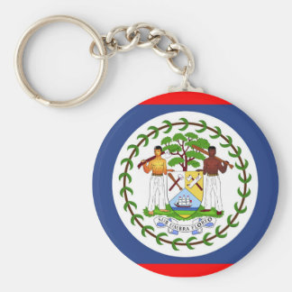 Belize flag country symbol key ring