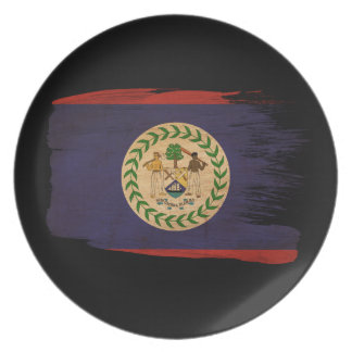 Belize Flag Dinner Plates
