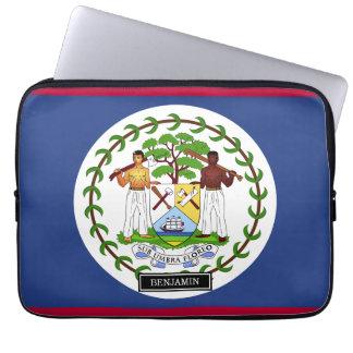 Belize Flag Laptop Sleeve