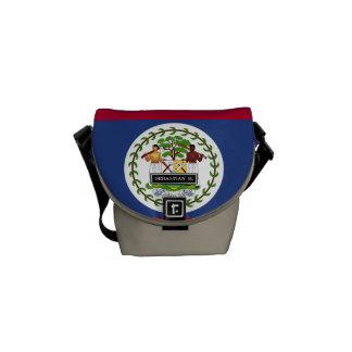 Belize Flag Messenger Bags