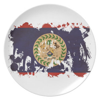 Belize Flag Party Plate