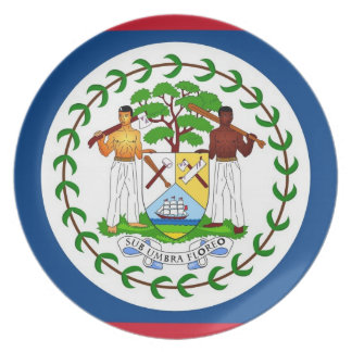 Belize Flag Plate
