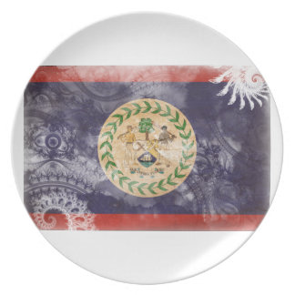Belize Flag Plates