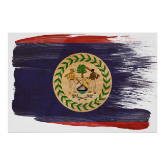 Belize Flag Posters