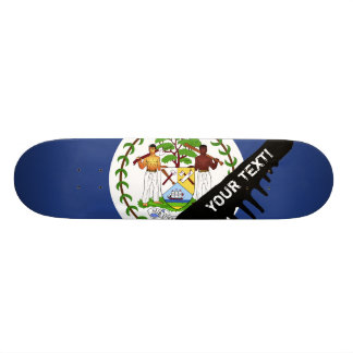 Belize Flag Skateboard Deck