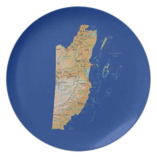 Belize Map Plate