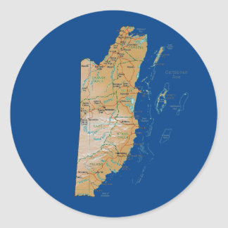 Belize Map Sticker