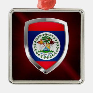 Belize Mettalic Emblem Metal Ornament