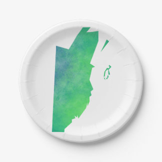 Belize Paper Plate