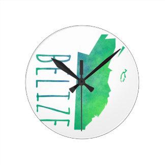 Belize Round Clock