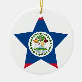 Belize Star Ceramic Ornament