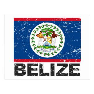 Belize Vintage Flag Postcard