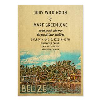 Belize Wedding Invitation Vintage Mid-Century