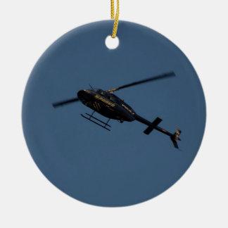 Bell 206B-3 JetRanger III Helicopter. Ceramic Ornament