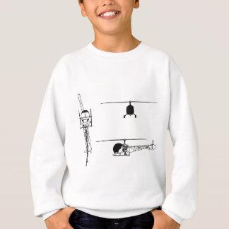 Bell_47_3-view_drawing Sweatshirt