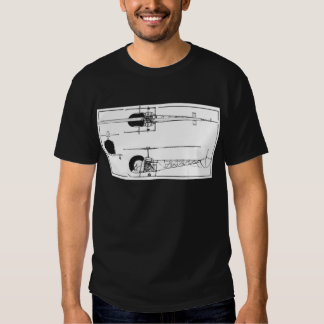 Bell 47 Helicopter Tshirt