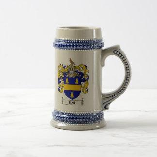 Bell Coat of Arms Stein / Bell Family Crest Stein Mug